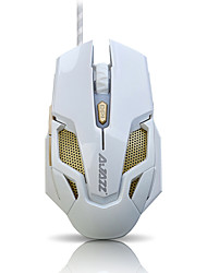 ajazz wired rgb blacklight125 / 250/500 / 1000dpi rato para jogos hornet2 verde (branco)