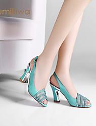 kumikiwa 2015 nuevas mujeres de los altos talones sandalias de las bombas de la señora pedrería slingback k14xs974