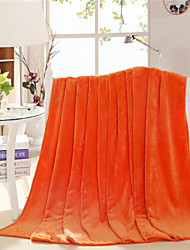 Orange Throw Blanket 100% Fleece