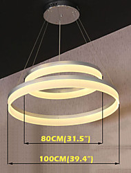 Round LED Pendant Lights Modern Acrylic Lamps Lighting Luxurious Double Rings D80100 Ceiling Light Fixtures