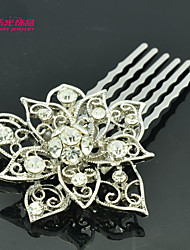 Neoglory Jewelry Lovely Flower Hair Comb with Clear Rhinestone for Lady/Girl/Daily/Pageant (More Color)