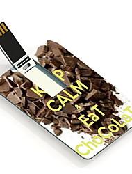 8gb a mantener la calma y coma tarjeta de diseño unidad flash USB de chocolate