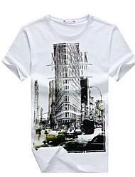 мода весна электронной Baihui хип-хоп мужчины Футболка Нью-Йорк фитнес скейт Camisetas хабар
