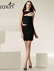 nuoxin® Women's Irregular Dew Waist Cultivate One's Morality Stretch The Bandage Sexy Dress