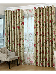 Country Curtains® One Panel Red Floral Blackout Curtain Drape