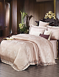 YUYUE Home Textile High-grade Jacquard process Bedding Set 4 Pcs Polyester/Modal Queen/King Duvet Cover Sets