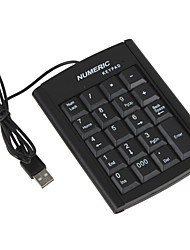 usb teclado numérico cwxuan ™ 19 teclas para PC desktop e laptop