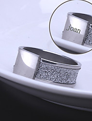 Personalized Gift Unisex Ring Stainless Steel Engraved Jewelry