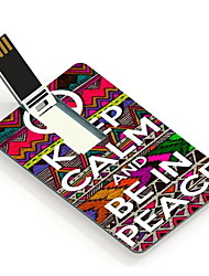 64GB Keep Calm and Be in Peace Design Card USB Flash Drive