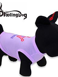 Gatos / Cães Camiseta Púrpura / Rosa Roupas para Cães Primavera/Outono Tiaras e Coroas