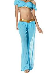 Prinzessin Jasmin Sky Blue Polyester Frauen-Halloween-Kostüm