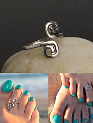 Antique Silver Vintage Toe Ring Body Ring Foot Beach Jewelry