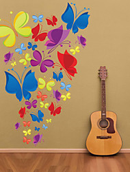 Wall Stickers Wall Decals, Colorful Butterfly PVC Wall Stickers