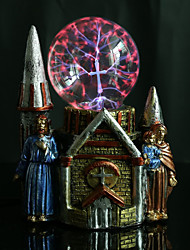 resina de la bola de cristal castillo recargable llevó la lámpara