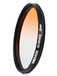 MENGS® 58mm Graduated ORANGE Filter For Canon Nikon Sony Fuji Pentax Olympus Etc Digital Camera