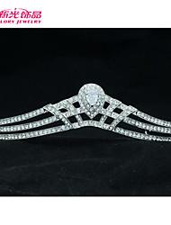 Neoglory Jewelry Clear Austrian Rhinestone Flower Tiara Crown Accessories for Lady/Bridal Pageant/Wedding