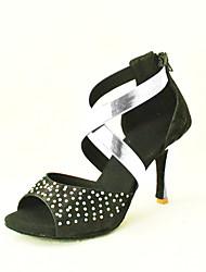 Latin Customizable Women's Sandals Flocking Dance Shoes (More Colors)
