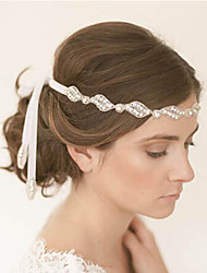 The New Bride High-Grade Pan Head Hair Pure Manual White Single Strands Of Hair Band