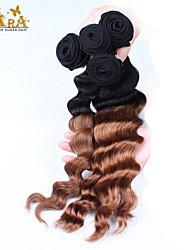 """3pcs / lot 10 """"-30"""" vierge péruvienne 1B30 de la couleur des cheveux vague lâche cheveu humain tisse"""