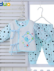 Ajiduo Newborn Baby Infant Boys Girls Polka Dot Cotton 2 Piece Rompers Clothing Set