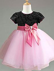 Kid's Dress , Chiffon/Mesh Casual/Cute/Party Cloris