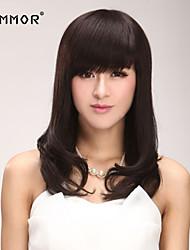 Capless  Medium Length Straight  Human Hair Wigs