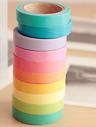 Color Paper Tape(Set of 10 Mixed Color)