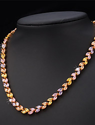 TopGold Exquisite Luxury AAA+ Zirconia Cubic Choker Necklace 18K Gold Plated Jewelry Gift for Women High Quality