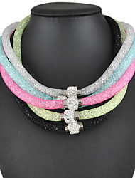 Women's Necklace of 5 Color Choice Stardust with Crystals Magnetic Clasps
