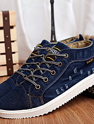Men's Shoes Casual Canvas Fashion Sneakers Black/Blue/Navy