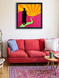 e-home® emoldurado arte da lona, tela de impressão retrato emoldurado