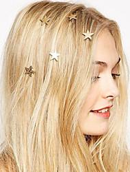 Fashion Europe Pentagram Spring Hairpin Hair Jewelry (1pc)