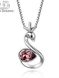 Poetry Dreams Sterling Silver Swan Pendant with 18'' Sterling Silver Chain
