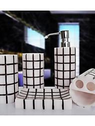 The Grid Amorous Feelings Pattern Bathroom Ware 5 Sets