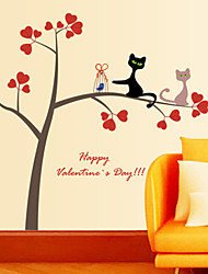 Wall Stickers Wall Decals, Cat and Tree PVC Wall Stickers