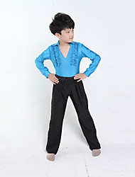 Latin Dance Performance Outfits Boy's Performance Polyester Outfit(More Colors) Kids Dance Costumes