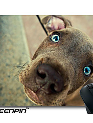 SEENPIN Personalized Mouse Pads Dog With Big Eyes Design