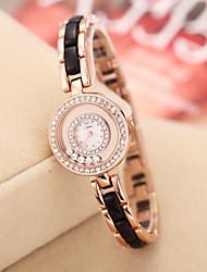 SINOBI Women's Golden Rhinestone Case Quartz Analog Bracelet Wrist Watch (Assorted Colors)