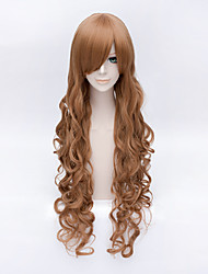 Cosplay Wigs Cosplay Cosplay Brown Long Anime Cosplay Wigs 100 CM Heat Resistant Fiber Female