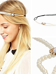 Sweet Pearl Flower Elastic Headband Head Jewelry