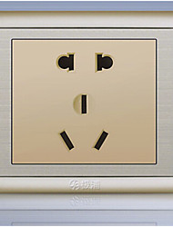 A PU 86 Concealed Champagne Gold Five Hole Socket, Wall Switch Socket Panel Two Or Three