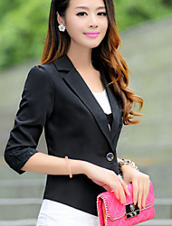 Women's ¾ Sleeve Blazer , Polyester Regular Casual