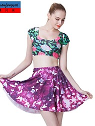 impresión sexy falda mediados de la cintura de cmfc®women todo-fósforo delgado falda plisada ropa informal underdress