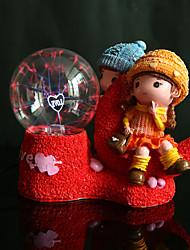 amantes creativos de resina lámpara de la bola de cristal
