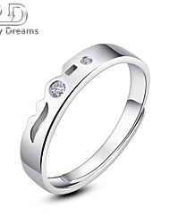 Poetry Dreams Sterling Silver 2-stone Adjustable Ring Women's Ring