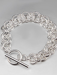 2015 Hot Selling Products 925 Silver links Bracelet 925 Sterling Silver Bangles Women