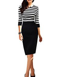 Morefeel Women's European Stripes Dress