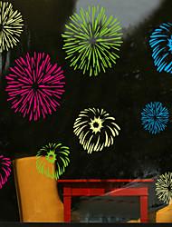 decalques de parede adesivos de parede, fogos de artifício de estilo de parede pvc etiquetas