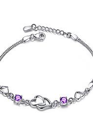 Deal Women's Heart-To-Heart Silver Bracelet