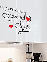 stickers muraux stickers muraux, cette cuisine de style assaisonnés mots anglais&cite muraux PVC autocollants